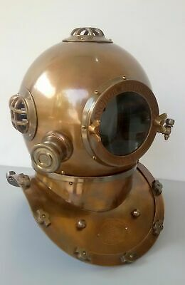 Vintage Morse Engineers U. Navy Diving Helm Solid Brass Marine Geschenk