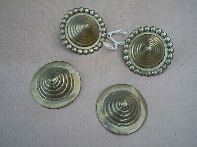 Collection Of Four Early Vintage Horse Brasses (Brass Swirl)