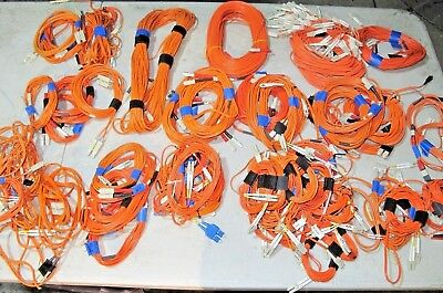 Fiber Optic Cable - MISCELLANEOUS LOT OF ORANGE CABLE