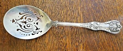 """Antique Tiffany ENGLISH KING Sterling Silver POACHED EGG SERVER 9.25"""""""