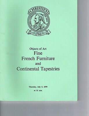 Christie's -Fine French Furniture & Continental Tapestries
