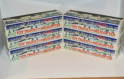 Lot Of 6 Hess 1995 Toy Truck And Helicopter  (Helicopters Tested Not Working)
