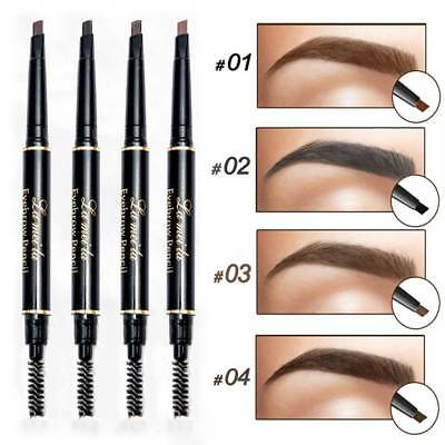 Double-Ended 3D Eyebrow Pencil with Mascara Natural Eye Brow Tint Cosmetics j