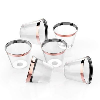 6X Disposable Plastic Wine Glass Party Wedding Juice Champagne Cocktail Cup