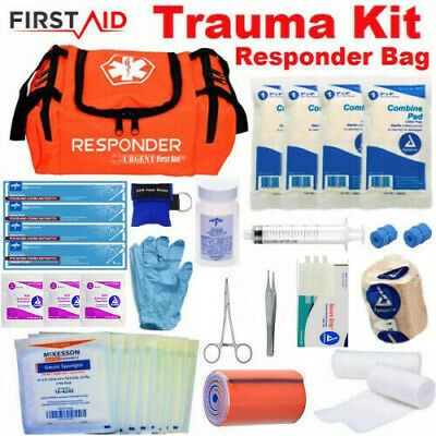 NEW First Aid Kit Parmedic Trauma Bag - Family Emergency Medical Survival Kit