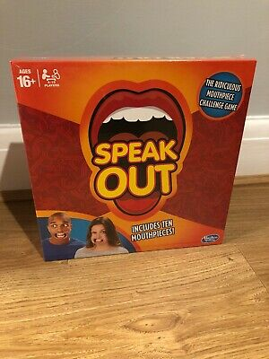 Speak Out Game Board Party Mouth Piece Challenge Family Kids Fun New In Box