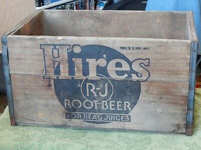"Vintage ,Wooden ""Hires Root Beer"" Crate"