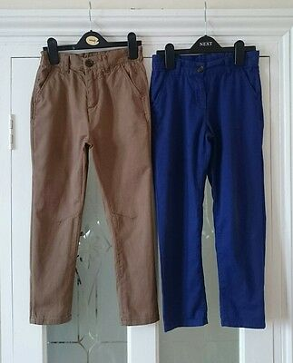 Girl's Next set of two chino trousers, age 7yrs