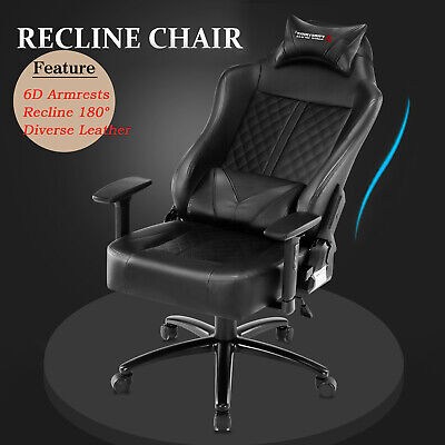 Executive Home Gaming Racing Office Chair Computer Chair Swivel Recliner Leather