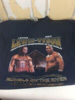 Rumble On The River Mike Tyson Lennox Lewis Boxing Memphis Pyramid 3XL T-Shirt