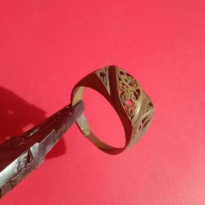 extreme ancient old ring legionary roman ring bronze rare type very unique, rare