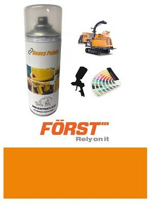 Forst Wood Chipper Orange Paint High Endurance Enamel Paint 400ml Aerosol