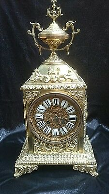 Beautiful Ornate 8 Day Striking French Mantel Clock GWO