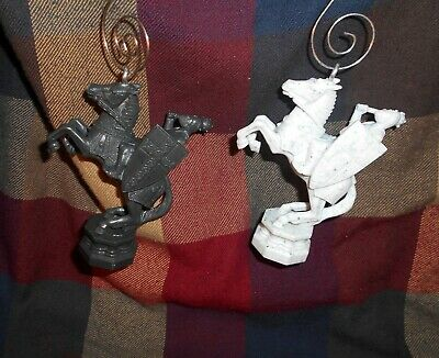LOT HARRY POTTER Custom Christmas Ornament WIZARDS CHESS WHITE KING /& QUEEN