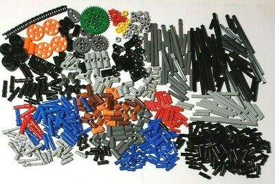 LEGO Dark Bluish Gray Technic Pin Connector Round 1L Lot of 100 Parts Pieces 186
