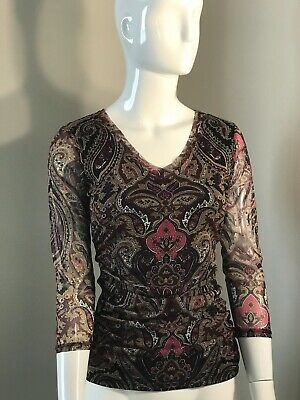 International Concepts Womens Petite Small Brown/Black Beautifully Designed Used