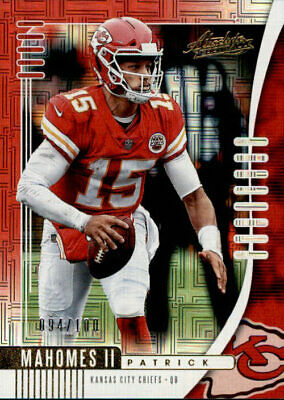 Patrick Mahomes III  2019 Absolute Football Red Spectrum Parallel #'d/99