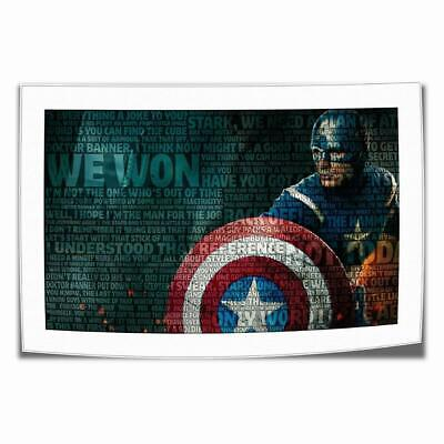 """16""""x26""""Captain America Paintings HD Print on Canvas Home Decor Wall Art Pictures"""