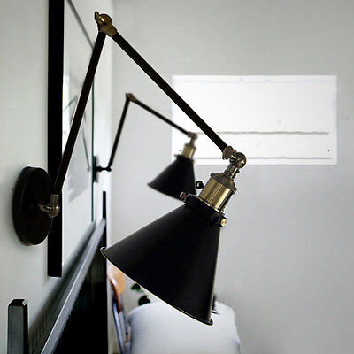 Swing Arm Wall Lamp Indoor Wall Light Black Wall Lights Bar Vintage Wall Sconce