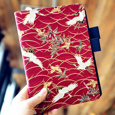 """Red-Crowned Cranes"" 1pc Beautiful Notebook Journal Diary Notepad Linen Cover"
