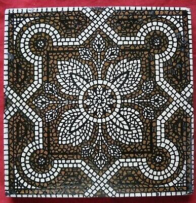 Antique Aesthetic Unusual Moorish Mosaic Pattern Tile Sherwin & Cotton c 1881