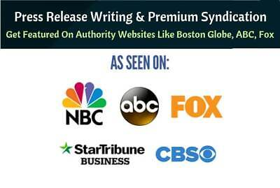 Will Write A Press Release, Distribute To Google news