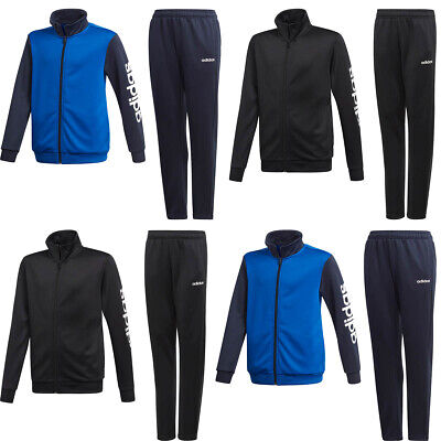 Adidas Boys Tracksuit PES Kids Full Tracksuits Bottoms Football Training Suit