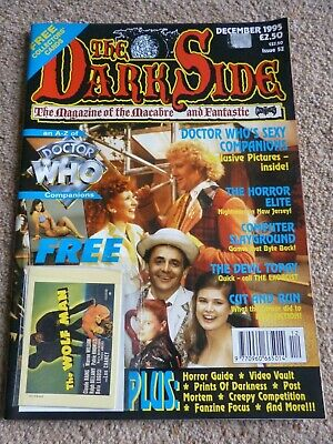 The DarkSide Horror Magazine # 52     Doctor Who  + Collectors Cards