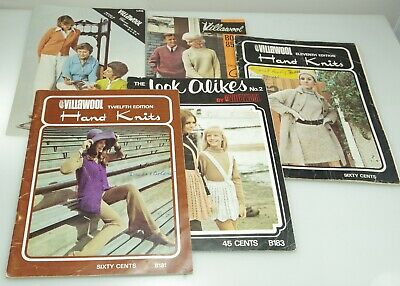 Collection Of Vintage Villawool Knitting Pattern Books