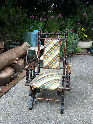 Victorian 1880s Children's American Style Rocking Chair