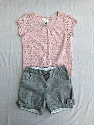 Girls 2-4 Year old Monsoon Shorts and LOGG Top