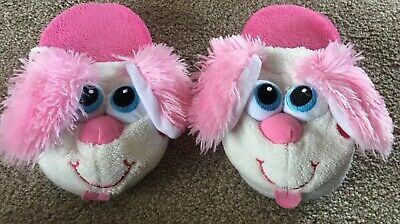 stompeez slippers Girls Pink Dog Size Small 9 10 11 Infants