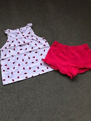 Mothercare T-Shirt And Shorts Set Girls 4-5 Years