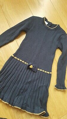 Spanish Girls  Blue Knitted Jumper Dress Age 6 Years