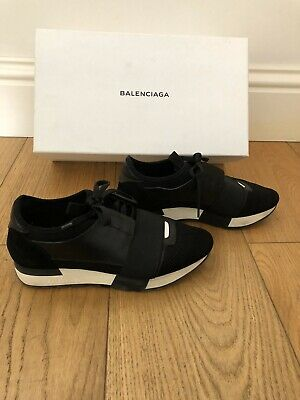 quality products detailed look purchase cheap BALENCIAGA RACE RUNNER Stretch-Knit, Mesh, Suede and Leather ...