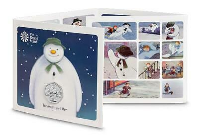 NEW Christmas 2019 Snowman and James 50p Coin Royal Mint BU BUNC IN STOCK