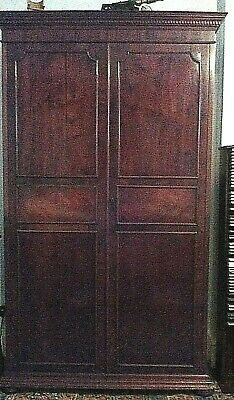 Antique Edwardian mahogany bookcase on bun feet