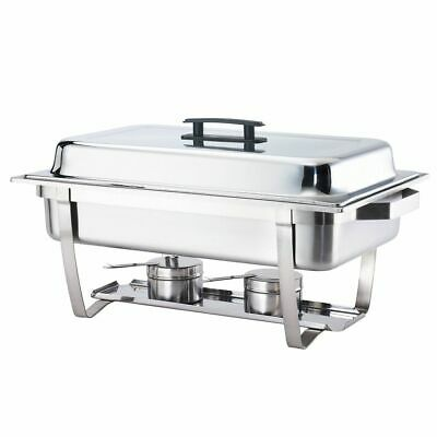 Browne Foodservice 575126 S/S Economy Rectangular 9 Qt. Chafer