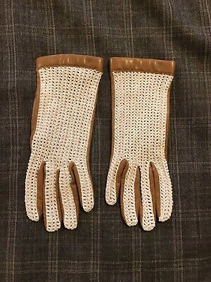 Chester Jefferies Made In England Tan Leather & Net Gloves