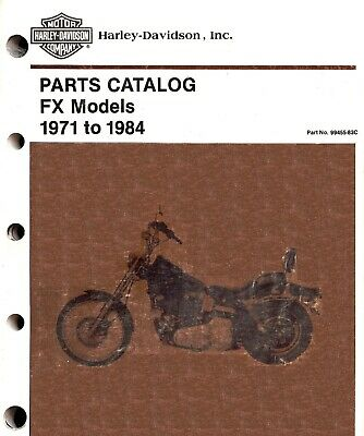 1971-1984 Harley-Davidson Fx Models Parts Catalog Manual