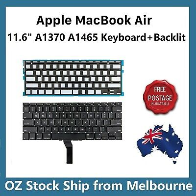 "Keyboard for Apple MacBook Air 11"" A1370 A1465 2011 2012 2013 2014 2015 Backlit"