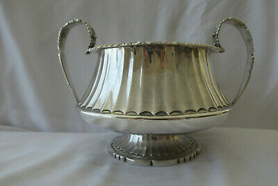 antique sterling silver sugar bowl, London 1824,12.41 Troy oz, 196 years old!