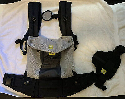 LILLEbaby Airflow Complete SIX-Position Ergonomic Carrier - Grey/black