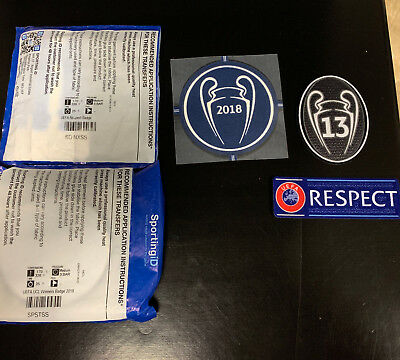 Real Madrid Champions League 13 Badge of Honour, Respect & 2018 Winners Set