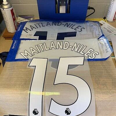 Ainsley Maitland-Niles 15 Player Size Name & Number Arsenal White Navy Blue