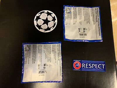 Champions League Player Adult Starball & Respect sleeve badge set official