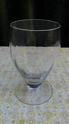 Antique Hand Blown Rummer Wine Cordial Champagne Glass With Etched Design c1900