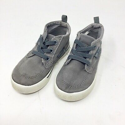 Osh Kosh Boys Sneakers Gray High Top Toddler Size 7