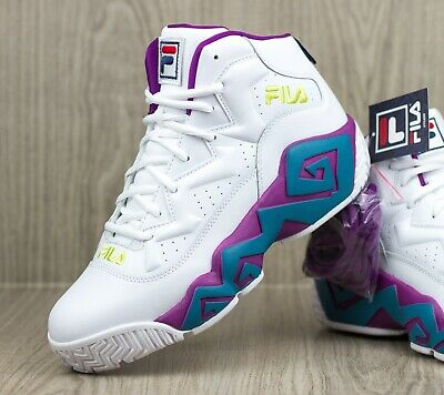 FILA MEN'S MB Leather Retro High Top Basketball Trainers