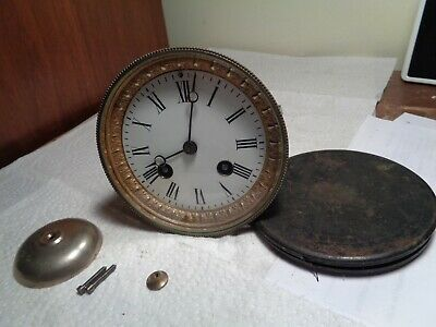 "Antique-French-Clock Movement-Ca.1890 ""Mougin"" To Restore-#T936Y"